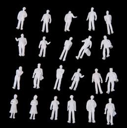 Wholesale 100pcs HO Scale White Model People Unpainted Train Figures T191