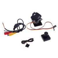 Wholesale 2014 FPV P HD PAL Camera Kit Fully Assembled Pan Tilt Servos Servo Steering Gear Mount Platform Set for RC RM455