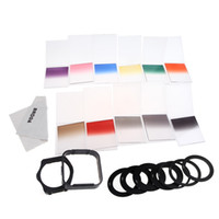 Wholesale Brand NEW in1 Complete Square Filter Kit Set for Cokin P Series Adapter Rings Filter Holder Lens Hood Cleaning Cloth D1124