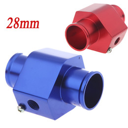 Wholesale Water Temp Temperature Joint Pipe mm Sensor Water Temp Gauge Radiator Hose Adapter mm Blue Red K1212