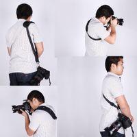 Wholesale 2014 Soft Caden Quick Neck Shoulder Sling Black Belt Strap for Canon Nikon Sony Pentax Panasonic dslr Camera D1180