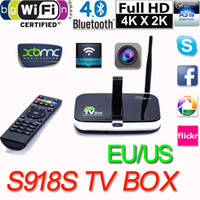 achat en gros de lecteur multimédia photo-Android 4.4 TV Box RK3188 Quad-core Q7S Lecteur multimédia HD 1080P Bluetooth 2G / 8GB Support 2MP Appareil photo Mic XBMC DLNA Miracast V691