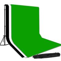100% cotton green screen - Studio x6m Black White Green Screen Cotton Muslin Backdrop Background Stand Kit