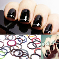 Wholesale Fashion Popular Mix Color Metallic Yarn Line Rolls Striping Tape Nail Art Beauty Decoration Stickers Decal Tools H10830