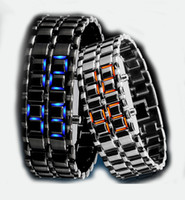 Wholesale Cheap Lava Style Iron Faceless Red Binary LED Wrist Watches