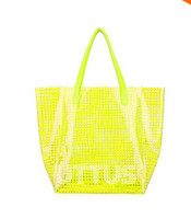 Folding plastic tote - Women new arrival plastic shoulder Bags high quality women handbags totes bags shopping bags ST