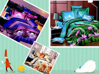 100% Cotton other Cotton 2014 Fashion 3sets lot New SUNA Home Textile 3D Duvet Cover Sets Linens Bed in a Bag Comforter Sets Bedclothes Bed Fedex Free shipping