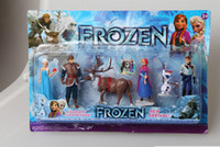 Wholesale Retail Frozen Piece PVC action Figure Play Set Anna Elsa Hans Kristoff Sven Olaf kid s gift toy