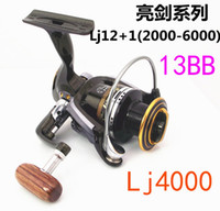 Saltwater   New 12+1BB Ball Bearings Left Right Interchangeable Collapsible Handle Fishing Spinning Reel LJ4000 5.5:1