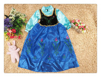 TuTu Summer A-Line Wholesale HOT!100pcs Frozen Snow Queen Elsa Costume Custom Size For Kids Princess Dress Sequined Cosplay Costume girl dresses +Free Shipping