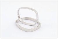 HOT sale Rectangular pure silver bracelet, titanium steel br...