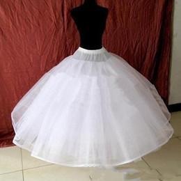 Wholesale In Stock Cheap White Wedding Dress Ball Gown Average size Petticoat Crinoline Underskirt Bridal Accessories