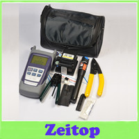 Wholesale Zeitop Fiber Optic FTTH Tool Kit with FC S Fiber Cleaver and Optical Power Meter Mw Visual Fault Locator