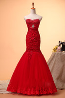 2014 New Design!Satin Red A- Line Dresses Evening Dresses Wom...