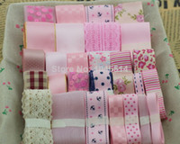 mix pink set Printed Grosgrain hot sale 28 meter pink ribbon set for handmade hair accessory and bow material embellishment 28 meters mix