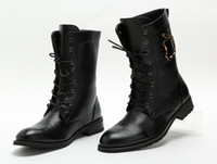 Wholesale Fashion Men s Leather Boots Black Pointed Toe Fashion Motorcycle Boots Height Increasing Work Boots For Men