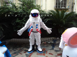 Factory Outlets Space suit mascot costume Astronaut mascot costume with Backpack with LOGO glove,shoes Free Shipping