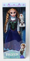 Wholesale pcsHot Sell Frozen Princess Inch Frozen Doll Frozen Elsa and Frozen Anna Good Gifts Girl Doll Joint Moveable with retail box
