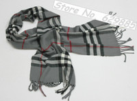 knitted cashmere scarf - Fashion Charming Acrylic Cashmere Chevron Stripe Knit Scarf