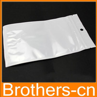 Wholesale 12 cm Clear white pearl Plastic Poly OPP packing Zip lock Retail Packages PVC plastic bag cm cm cm cm cm
