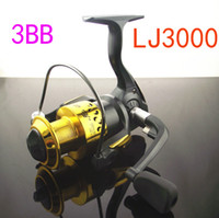 Saltwater   2014 Special Offer Hot Sale Molinete Pesca Lj3000 3bb 5.5:1 Reels Spinning Wheel Round Vessel Sea Fishing Pole