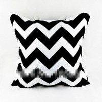 black pillow cases - 2014 New Modern Decorative Black White Chevron Zig Zag Throw Cushion Cover Pillow Case