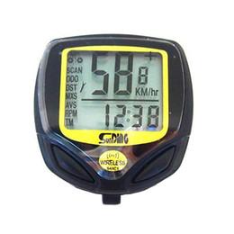 Wholesale Black Wireless LCD display Waterproof Computer Cycle Bicycle Bike Meter Speedometer Odometer