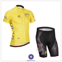 Short Breathable Men Tour De France Team Bicycle Jerseys LCL Yellow Cycling Maillot Cycliste Short Sleeve Bike Wear Summer Bicycle Jersey Set