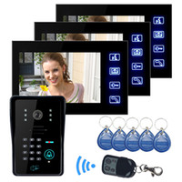 Wholesale 1 Camera Monitor Video Intercom Door Camera Wired Porteiro Eletronico Video Peephole Entry Video Phone Door Eye