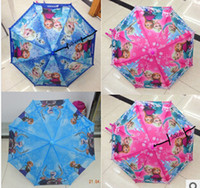 Wholesale Newest Frozen Umbrella Children Parasol Cartoon Frozen Queen Alsa Anna cm Umbrellas Hot