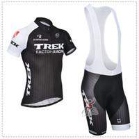Short trek - Trek Cycling Jerseys Bicycle Clothing Blue Color Bicycle Jersey Bib Coolmax Pants Sales Short Sleeve Cycling Black Color Wears