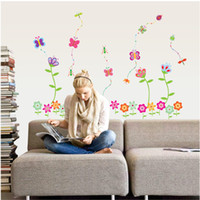 PVC flower stickers wall - Kids Room Removable PVC Wall Sticker Decal Baby Nursery Flower Wall Stickers Decals AY7042
