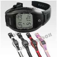 Wholesale KYTO Pulse Watch Without Chest belt HRM Pedometer Multi Functional Heart Rate Monitor LCD Night Lights Sports Watch Athletic Timer
