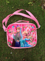 Women canvas water bag - Newest Girls Frozen Anna Elsa Sets bags and water bottle and Lunch box to children day s Christmas gift
