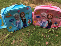 Shoulder Bags Women Artwork 2014 Newest Girls Frozen Anna Elsa Sets bags+water bottle+Lunch box+20pcs+children day's gift frozen purse