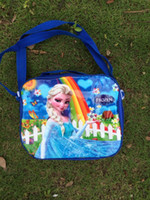 Wholesale 2014 Newest Girls Frozen Anna Elsa Sets bags water bottle Lunch box children day s gift frozen purse