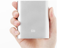 Wholesale Xiaomi Mi mAh Power Bank V A Portable Emergency Battery External Charger For Iphone S C Galaxy S4 S5 Tablet HTC LG Sony