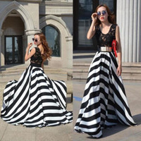 Casual Dresses maxi - 2014 NEW Stripe Dress Women Summer Boho Long Maxi Evening Party Dress Beach Dresses HOT Lace Dress DH04