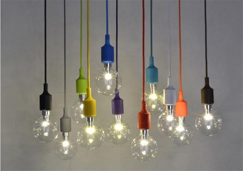 Muuto Pendent Light Rainbow Chandelier Single Light Bulb E27 Candy – Chandelier Single