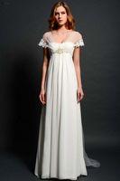 Cheap A-Line 2015Bridal Gown Best Model Pictures Bateau 2015Beach Wedding Dress