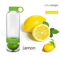 Wholesale Drinkware Lemon Cup Citrus Zinger Juice Source Vitality Water Bottle Fruit Cup for outdoor fun sports