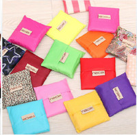 Wholesale U shape ECO reusable envrionment shopping Supermarket foldable bags nylon waterproof hand storage collapsible bag for woman women housewife