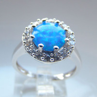 Solitaire Ring australian mens fashion - fashion jewelry australian opal jewelry mens blue opal rings DR301403097R A Size7 pc Freeshipping