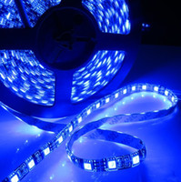 Wholesale RGB SMD PCB black leds m DC V waterproof IP65 led fexible strip light leds cm soft led tape M DHL FEDEX free