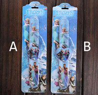 Wholesale 10Pcs frozen Children Watch With Box Cheap Kids Cartoon Wristwatch best XMAS gift F0076