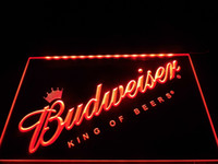 Wholesale LA002b Budweiser Beer Bar Pub Club NEW Neon Light Sign