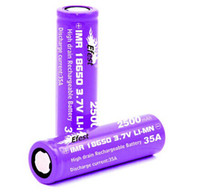 Wholesale UPS TNT A discharging current Efest IMR mah with flat top efest purple battery