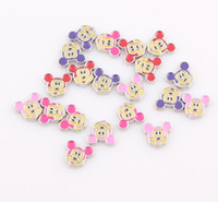 Wholesale 2014 New arrive Mickey Mouse charms Floating charms for Glass locket Living locket charms flatback ZBE260