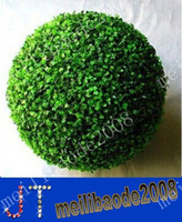 artificial boxwood ball - cm Plastic GREEN GRASS BALL Artificial Boxwood Ball Outdoor Indoor Decoration MYY9362