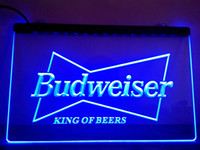 Holiday beer king - LE009 b Budweiser King Beer Bar Pub Club Neon Light Sign LED Light Sign